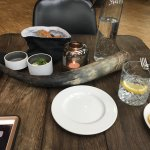 Interesting food at the restaurant. The atmosphere is nice and the place (the restaurant not the