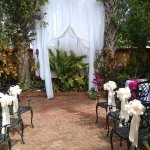 Perfect Backdrop for our Beautiful Courtyard Wedding!