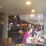 Looking towards the bar, next to SW facing windows