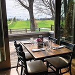 A table with a view in our dining room!
