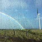 Double Rainbow in Wind Farm Area about an hour outside Sensoria