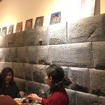 Inca wall incorporated into decor