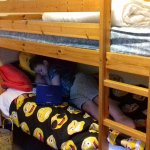bunkbeds and a single bed