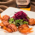 Bacon Wrapped Bourbon Shrimp