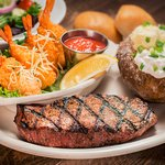 Ranch Steak and Stagecoach Shrimp