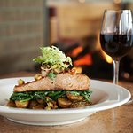 Alder grilled Northwest salmon