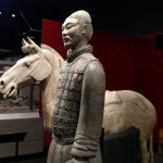 The Terracotta Warriors are life size (6 ft tall) images. They protect Emperor Qin in the afterl