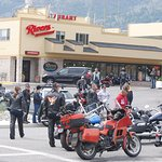 The Restaurant is full of bikers enjoying the central washington sun!