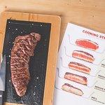 Hacemos 5 puntos de cocción! (We have 5 cooking steaks)