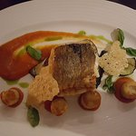 A cod dish - excellent flavour, texture and presentation.