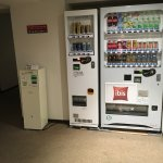 vending machines near the elevator include beer