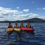 Kayaking on Lower Saranac Lake.