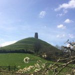 View of the Glastonbury Tor from the footpath