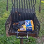 One of the Charcoal Grills - Pre Grilling