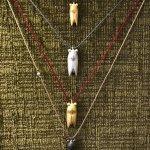 "Summer came earlier in ""Tzamia-Krystalla"" Art Gallery. Silver Neck Ornaments ""Cicadas"" by  I.R."