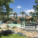 Play areas for different age groups