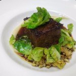 Boneless beef short ribs with spaetzle - delicious!