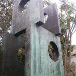Walk through sculpture in the garden