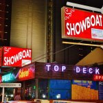 The new front of the Showboat