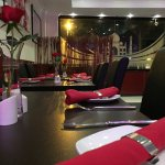 Tables all set for our lovely customers. Book your spot for the evening.