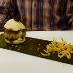 Mini Hamburger with carmalised onions - LOL!
