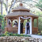 Gazebo - There are outlets so you can play wedding music as the bride walks down the isle and af