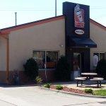 entrance & drive-thru at Dunkin' Donuts