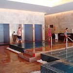 This is part of their extraordinary spa - the hydrotherapy-incredible!