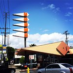 Inexpensive family dining at a great retro coffee shop diner, Norm's Restaurant on La Cienega, L
