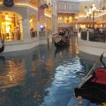 venetian hotel is connected, Italy theme with gondola rides