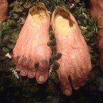 Hobbit feet in the mini-museum