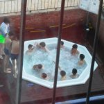 locals playing in the jacuzzi