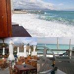 La terrasse coté mer et coté intérieur