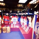 Replica of Montreal Canadians dressing room