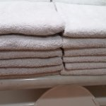 Dingy gray rough towels