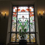 Beautiful window on stairway