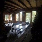 Interior estar de la cabaña