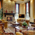 Lobby with Fireplace.