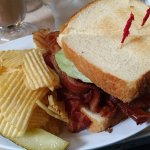 They are not messing around with their BLT. It's huge and stuffed with amazing crispy bacon!