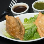 Samosas w/ Mint and Tamarind Chutney