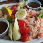 Seafood Salad plenty of shrimp and lobster