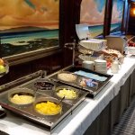Breakfast buffet. Hot food options available too.