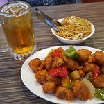 Sweet & Sour Pork with Chow Mein Noddles