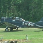 Douglas Dauntless SBD dive bomber. This plane offered rides.