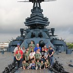 Our group on the Battleship.