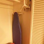 Iron and Ironing Board in the Closet