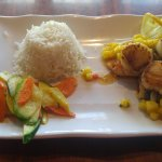Grouper/Scallop Special with Vegetable Medley and Rice