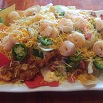 Shrimp Nachos! More than enough for two people!