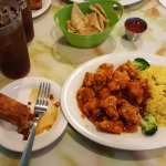 General's Chicken, Rice, Egg roll, Sweet Tea for around $10