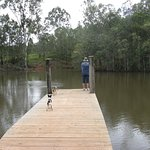 Dam jetty for a spot of Black Bream fishing at Barking Owl Retreat
